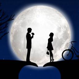 freetoedit silhouette romance surreal surrealism