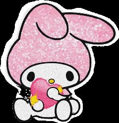mymelody kawaii pink pastelpink melody glitter freetoedit
