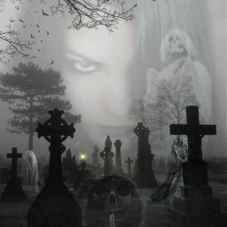 freetoedit halloween graveyard cemetery ghosts spirits evil