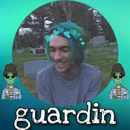 guardin emorap aliens ithinkyourreallycool demonsinmyorbit solitary cute teal green freetoedit