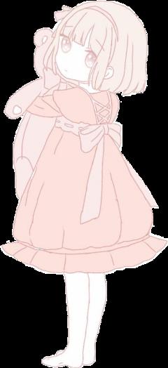 cuteanimegirl kawaiigirl kawaiigirls cutesticker cuteanimegirls kawaii pastelpink pinkanimegirl teddy teddybear animegirl freetoedit