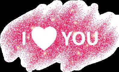 iloveyou gliter text glittertext freetoedit