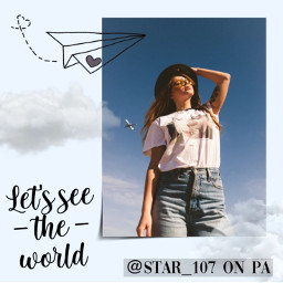 picsart freetoedit pa remix remixit edit replay trending trendy effects stickers mask filter beautiful vintage aesthetic aestheticedit collage girl person travel world plane airplane clouds