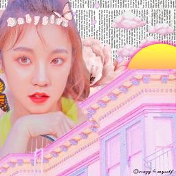 freetoedit yuqi g bias pink