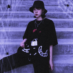 teia terror teiadearanha aranha halloween black dark darkness gothic aesthetic horror monster monstro gotico rock vampiro bizarre pastelgoth sadgirl japan harajuku fashion kawaii girl pastelgirl freetoedit
