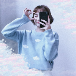 nuvem pastel pastelcolors pink blue girl kawaii cute céu angel edit effect efeito photo foto moldura freetoedit