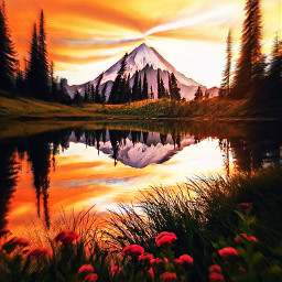 mountain lake sunset flowers love beautiful naturephotography nature interesting travel art sky photography vacation beach summer fall beautifulsun reflection amazing beautifulscenery wishiwasthere treescape forests lakelife