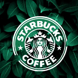 freetoedit starbucks light contraste black white madewithpicsart heypicsart conceptart adreamygirl༄ surrealart photomanipulation nature coffee tropical surreal leaf green logo adreamygirl