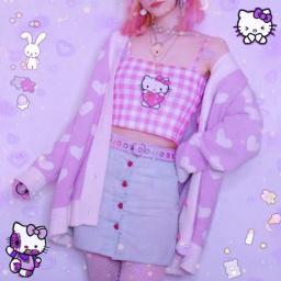 hellokitty purple pastel pastelgoth pastelgirl girl menina pink kawaii cute photo foto effect efeito moldura edicao roxo freetoedit