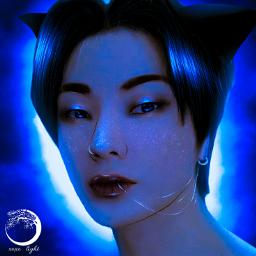 victon victonhanse hansevicton hanse art aesthetic blue aestheticblue fanart hansefanart remixit