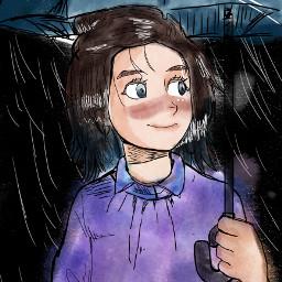 art anime drawing rain rainy animedrawinh