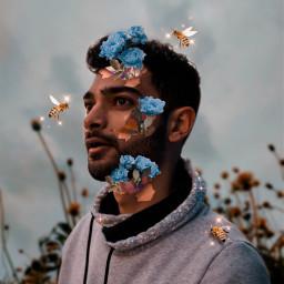 freetoedit flowers sky bee tear ecfloralface