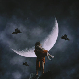 surrrealart surreal fantasy fauspre madewithpicsart interesting couple help night visualart freetoedit
