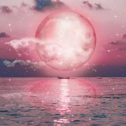 moon reflection waterreflection surreal freetoedit