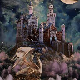 freetoedit fantasy castle dragon sky beautyofnature beautyallaround madewithpicsart myimagination myedit