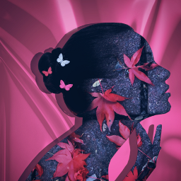 freetoedit doubleexposure artisticportrait pink blending