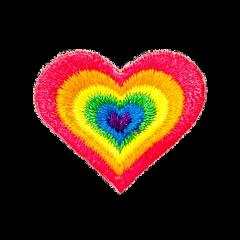 freetoedit heart rainbow hobicore