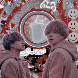 red bts pastel suga bias aesthetic kpop filter
