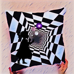 pillow mosaic silhouette girl ircdesignapillow freetoedit