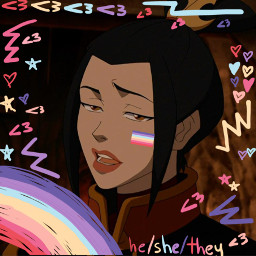 azula avatar avatarthelastairbender avatarthelegendofaang headcanon heshethey heshetheylesbian lesbian freetoedit
