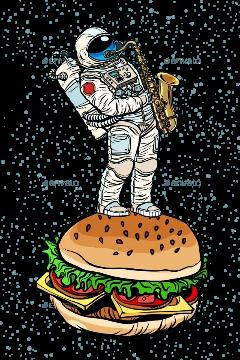 astronaut fstickers freetoedit