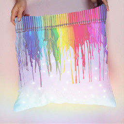 prismeffect drippingcrayons drippingcrayon colour rainbow ircdesignapillow freetoedit