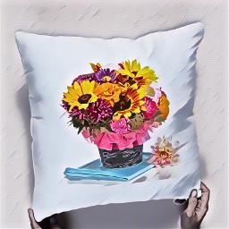 art oilpainting flowers pillow ircdesignapillow freetoedit