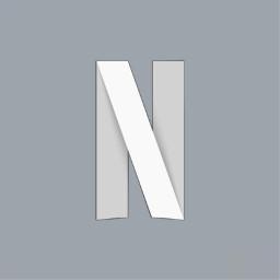 netflix netflixlogo personalizedlogo bluegray freetoedit