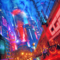 freetoedit remixit madewithpicsart city futuristic architecture building skyscrapers dystopia citylights hologram sky skyline colourful bladerunner bladerunner2049