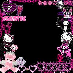 emo goth alt punk rock gothframe pink hellokitty emoframe alternative bunny freetoedit