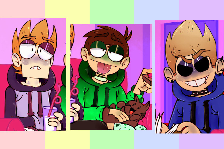 Eddsworld icons! (Might use these myself uwu) I WANNA FIND THE ARTIST SO BAD!! 😤🥺💕 #Eddsworld #edgy #icons #pfp #friends #cute #aesthetic