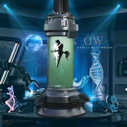 space dna hybrid lab testtube freetoedit