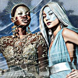 freetoedit makeup costumes girls ladies women models posing halloween remixit effects