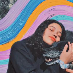 love dog girl sun freetoedit