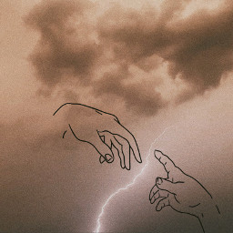 hands sky clouds thunder touchoflove freetoedit