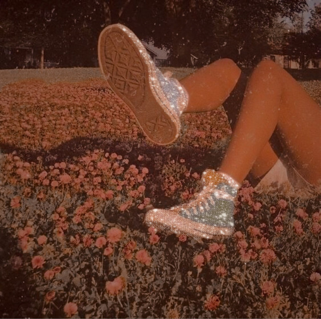 #aesthetic #80saesthetic #boujee #cutie #shoes #wildflowers #flowers #shoes #converse #glitter #summer #autumn #love