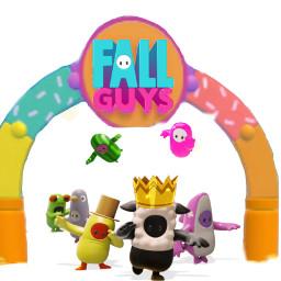 freetoedit fallguys fall_guys victoire victory jump plongons plongeons arrivé arrivée arivé arivée crown best owner play game jeux jeu image images
