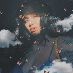 kehlani freetoedit replay butterfly clouds sparkles
