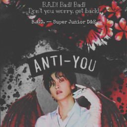 vampire eunhyuk superjunior halloween bad badsong superjuniord&e badblood badbloodalbum blood tryitout kpop replayed heypicsart makeawesome wings costume sprinkle scary quote quotes background red black aesthetic freetoedit