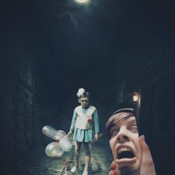 freetoedit scary scream horror darkness darkstreet