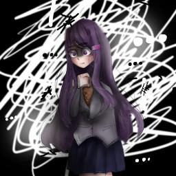 art mine ddlc yuri ddlcyuri trash idk eek drawing experiment yes scibbles doodles anime