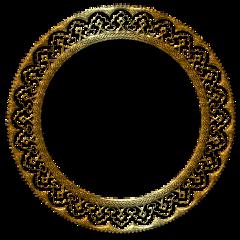 circulo dorado oro freetoedit