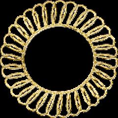 circulo oro dorado freetoedit