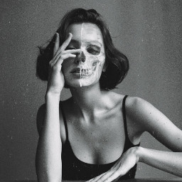 skeleton face beauty woman halloween spooktober