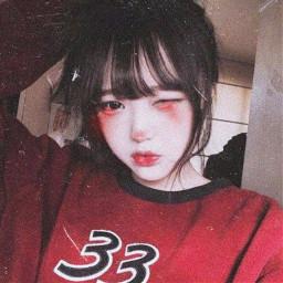 make maquiagem edit effect efeito edicao picsart egirl kawaii gothic pink blush red mask girl trap pastel halloween darkness cyberpunk kpop korean coreia japan freetoedit