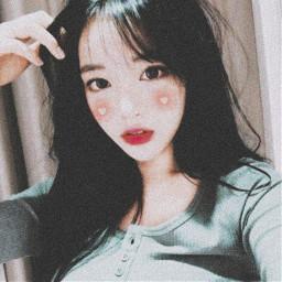make maquiagem edit effect efeito edicao picsart egirl kawaii gothic pink blush heart mask girl pastel halloween darkness cyberpunk kpop korean coreia japan freetoedit