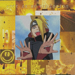 deidara akatsuki anime wallpaper otaku yellow aesthetic freetoedit