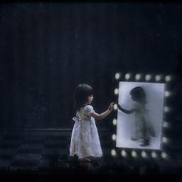darkghost dark horrible baby mirror darkmirror freetoedit