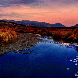 naturephotography nature river dusk autumn colorful colorado freetoedit
