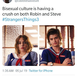 strangerthings bisexual bi bisexualpride bisexualmemes